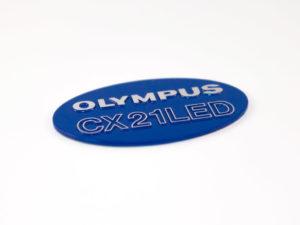 Olympus 3d gegoten naamplaat diamond polish
