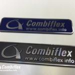 Combiflex 3D gegoten aluminium emblemen gepolijsd